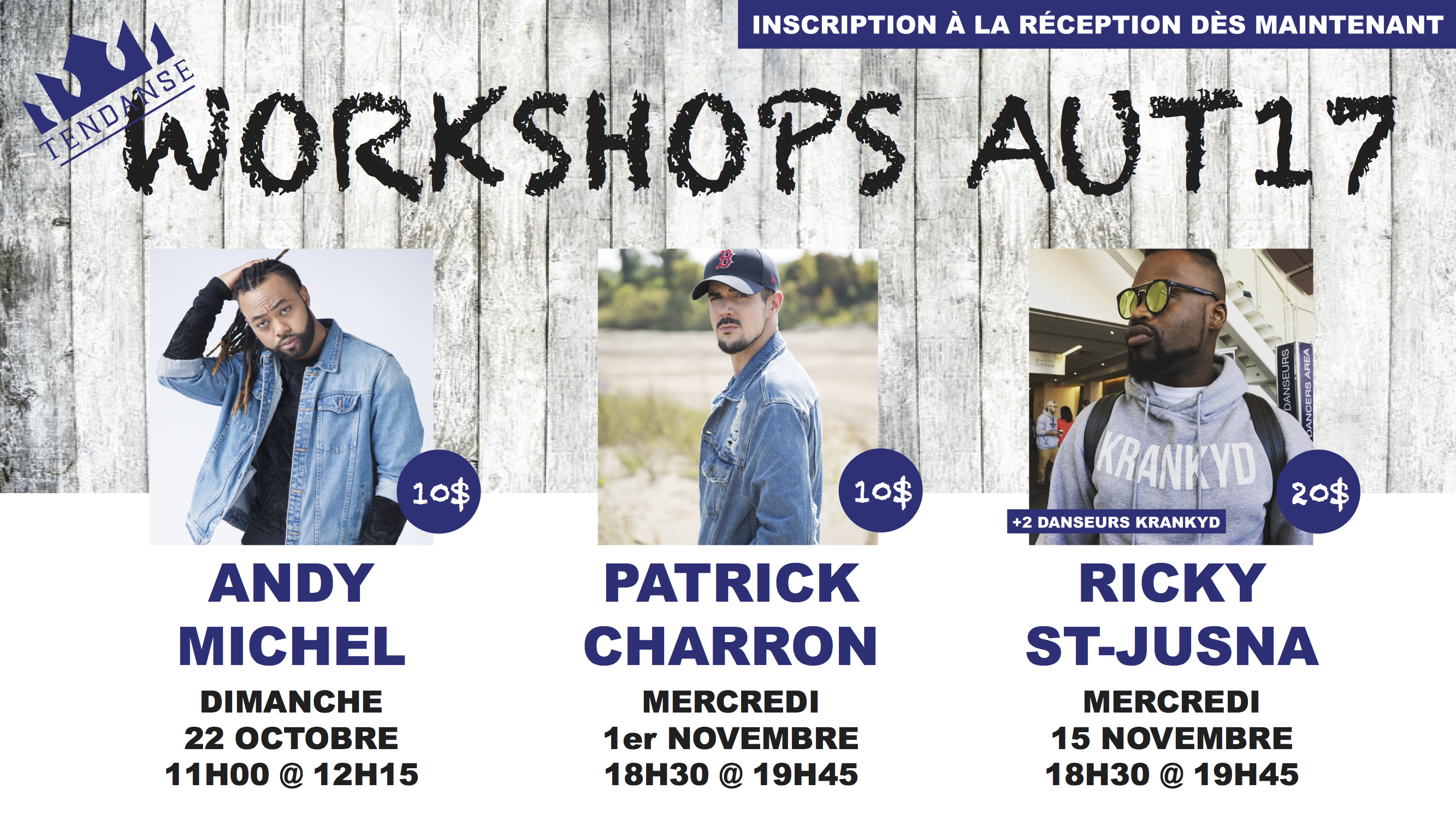 Workshops Automne 2017