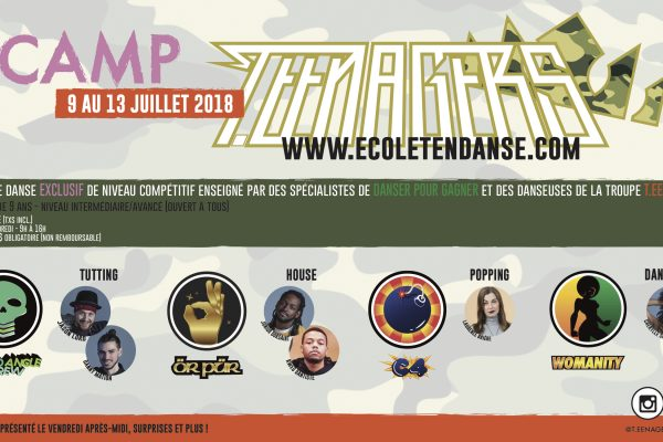 Camp été 2018 x T.EENAGERS